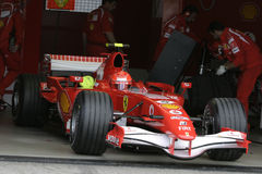 F1 2006 - Michael Schumacher Ferrari Royalty Free Stock Photography