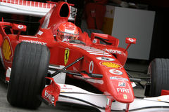 F1 2006 - Michael Schumacher Ferrari Stock Photography