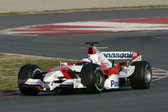 F1 2006 - Olivier Panis Toyota Photos stock