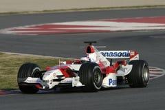 F1 2006 - Olivier Panis Toyota Arkivfoton