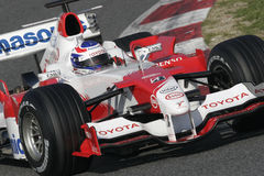 F1 2006 - Olivier Panis Toyota Royalty Free Stock Photo