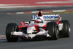 F1 2006 - Olivier Panis Toyota Arkivfoto