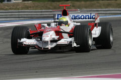 F1 2006 - Ralf Schumacher Toyota Royalty Free Stock Photography