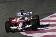 F1 2006 - Ricardo Zonta Toyota Arkivbild
