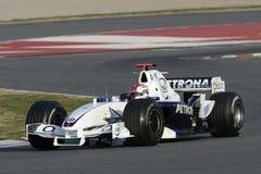 F1 2006 - Robert Kubica BMW Sauber Royaltyfri Foto