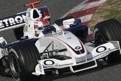 F1 2006 - Robert Kubica BMW Sauber Fotografering för Bildbyråer