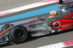 F1 2007 - Левис Hamilton McLaren стоковая фотография rf