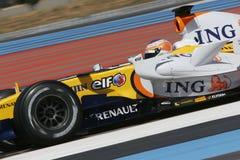 F1 2007 - Нелсон Piquet Renault Стоковое Изображение RF