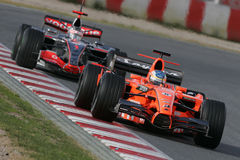 F1 2007 - Adrian Sutil Spyker Stockbilder