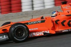 F1 2007 - Adrian Sutil Spyker Lizenzfreie Stockfotos