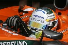 F1 2007 - Adrian Sutil Spyker Fotos de archivo libres de regalías