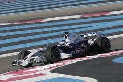 F1 2007 - Bmw Sauber Heidfeld εγκοπών Στοκ φωτογραφίες με δικαίωμα ελεύθερης χρήσης