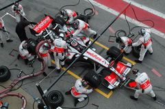 F1 2007 - Fernando Alonso McLaren Royalty Free Stock Image