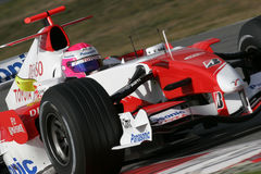 F1 2007 - Franck Montagny Toyota Royalty Free Stock Image