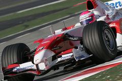F1 2007 - Franck Montagny Toyota royalty free stock photo