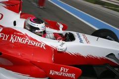 F1 2007 - Franck Montagny Toyota Royaltyfria Foton