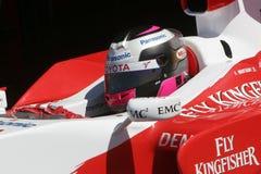F1 2007 - Franck Montagny Toyota Arkivfoton
