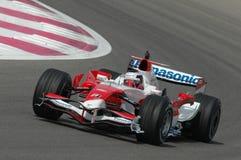 F1 2007 - Franck Montagny Toyota Royaltyfri Foto