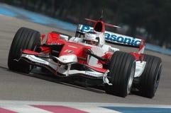F1 2007 - Franck Montagny Toyota Royaltyfri Bild