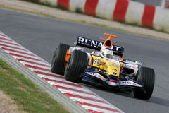 F1 2007 - Giancarlo Fisichella Renault Fotos de Stock