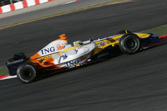 F1 2007 - Giancarlo Fisichella Renault Royalty Free Stock Photos