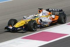 F1 2007 - Giancarlo Fisichella Renault Royaltyfri Foto