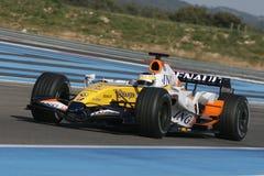 F1 2007 - Giancarlo Fisichella Renault Royaltyfri Bild