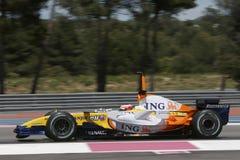 F1 2007 - Heikki Kovalainen Renault Stock Photography