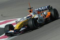 F1 2007 - Heikki Kovalainen Renault Arkivfoton