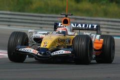 F1 2007 - Heikki Kovalainen Renault Royaltyfri Bild