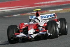 F1 2007 - Jarno Trulli Toyota Photo stock