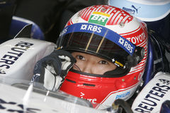 F1 2007 - Kazuki Nakajima Williams Royaltyfria Foton