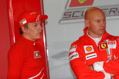 F1 2007 - Kimi Raikkonen Ferrari Royalty Free Stock Photos