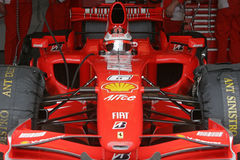 F1 2007 - Kimi Raikkonen Ferrari photo stock
