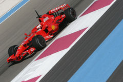 F1 2007 - Kimi Raikkonen Ferrari Royalty Free Stock Photos