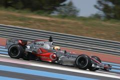 F1 2007 - Lewis Hamilton McLaren Arkivfoto