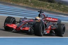 F1 2007 - Lewis Hamilton McLaren Royaltyfri Foto