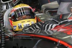 F1 2007 - Lewis Hamilton McLaren Arkivbilder