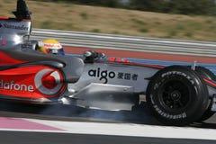 F1 2007 - Lewis Hamilton McLaren Arkivfoton
