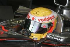 F1 2007 - Lewis Hamilton McLaren Arkivbild
