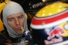 F1 2007 - Mark Webber Red Bull Royalty Free Stock Images