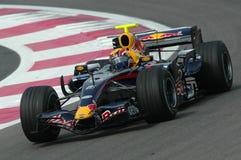F1 2007 - Mark Webber Red Bull Stock Image