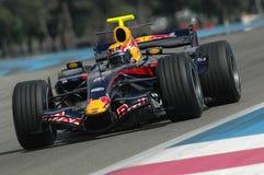 F1 2007 - Mark Webber Red Bull Royalty Free Stock Images
