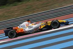 F1 2007 - Nelson Piquet Renault Royalty Free Stock Photography
