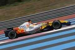 F1 2007 - Nelson Piquet Renault Fotografía de archivo libre de regalías