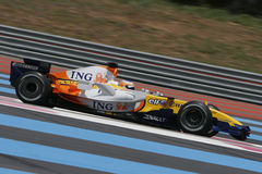 F1 2007 - Nelson Piquet Renault Royalty Free Stock Photos