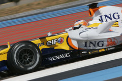 F1 2007 - Nelson Piquet Renault Royalty Free Stock Image