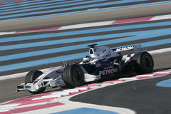 F1 2007 - Nick Heidfeld BMW Sauber Royaltyfria Foton
