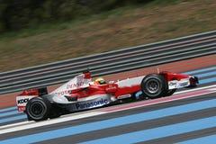 F1 2007 - Ralf Schumacher Toyota Arkivbild
