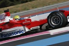 F1 2007 - Ralf Schumacher Toyota Arkivfoton